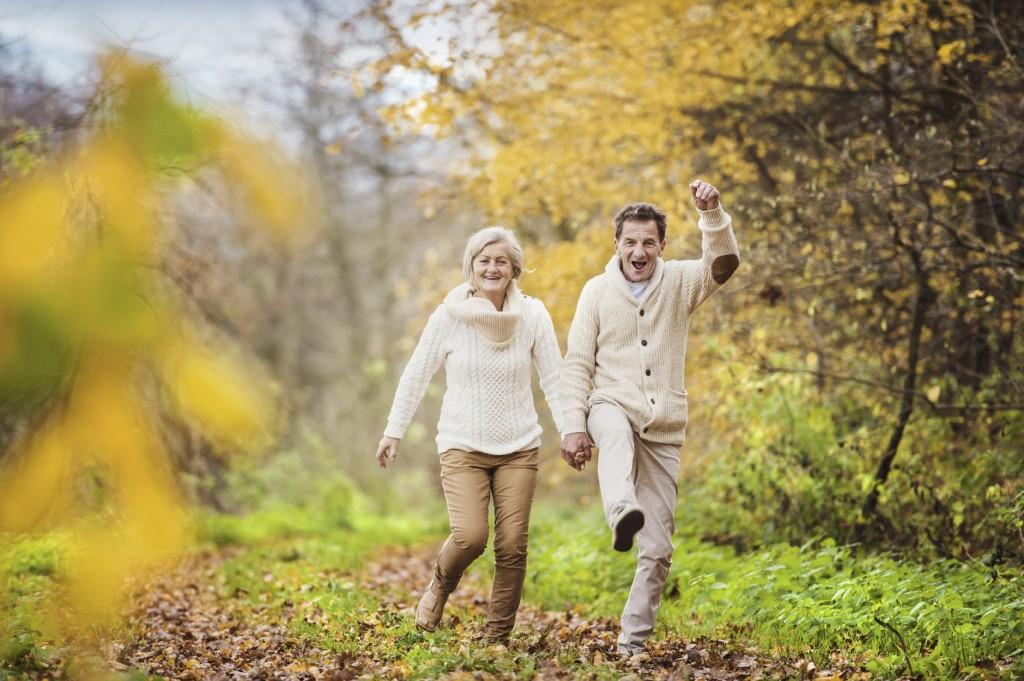 couple having fun in nature