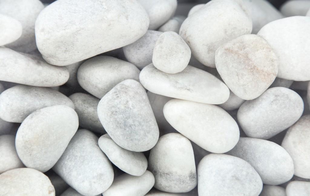 White pebbles background