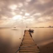 aged wooden pier
