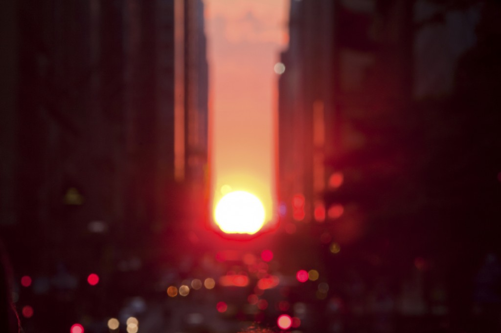 Defocused Manhattanhenge