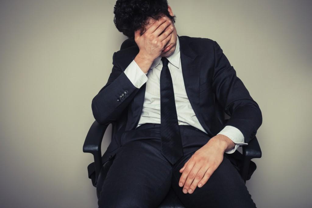 Sad and tired businessman