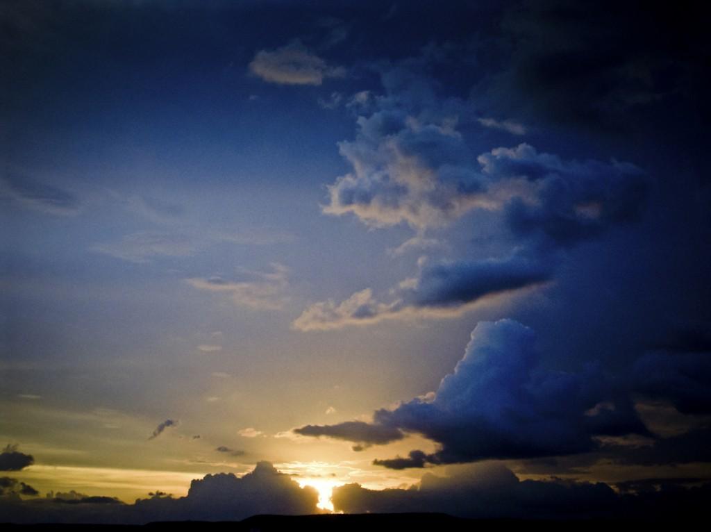 Evening light, Skyscape