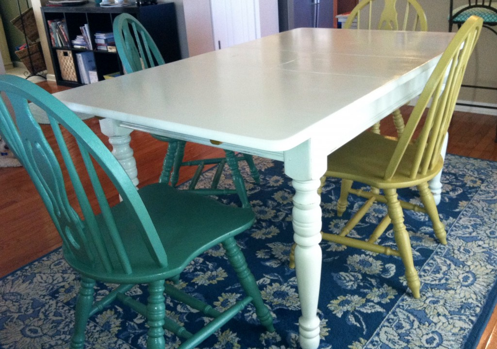 Renewed table and chairs