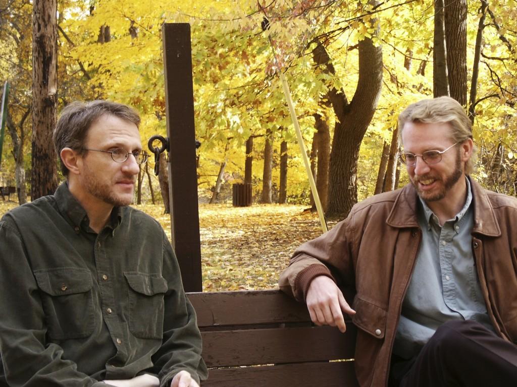 Park bench conversation