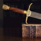 150 Year Old Bible With Sword