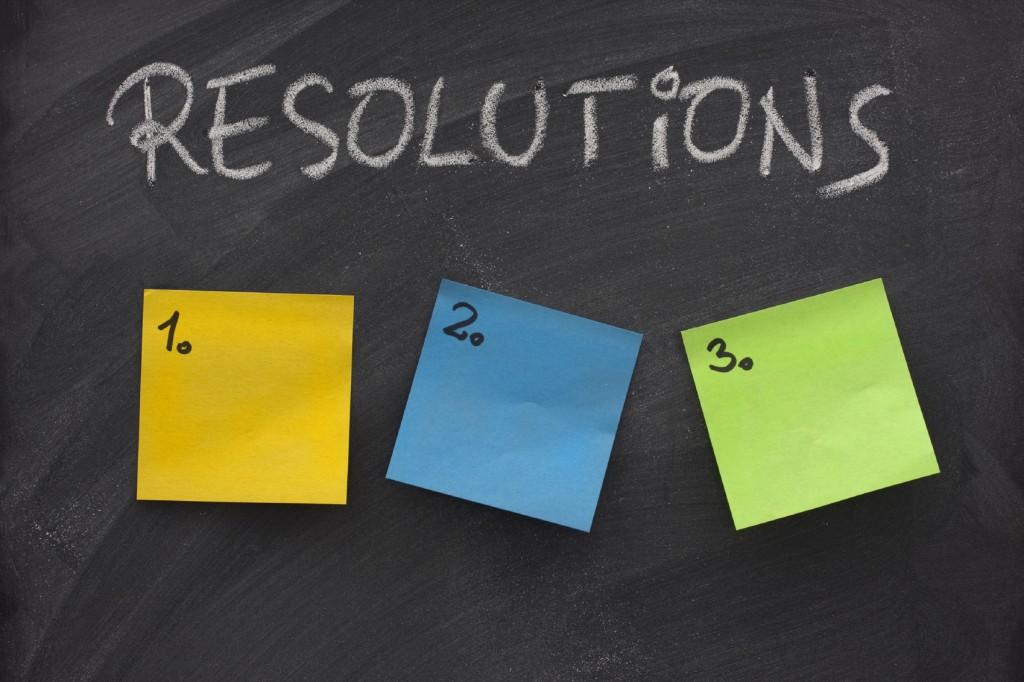 blank list of resolutions on blackboard