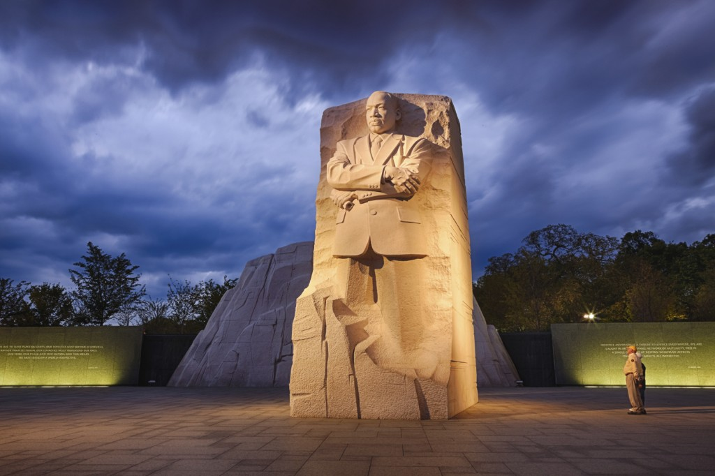 Memorial to Dr. Martin Luther King.