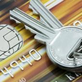 credit card and keys