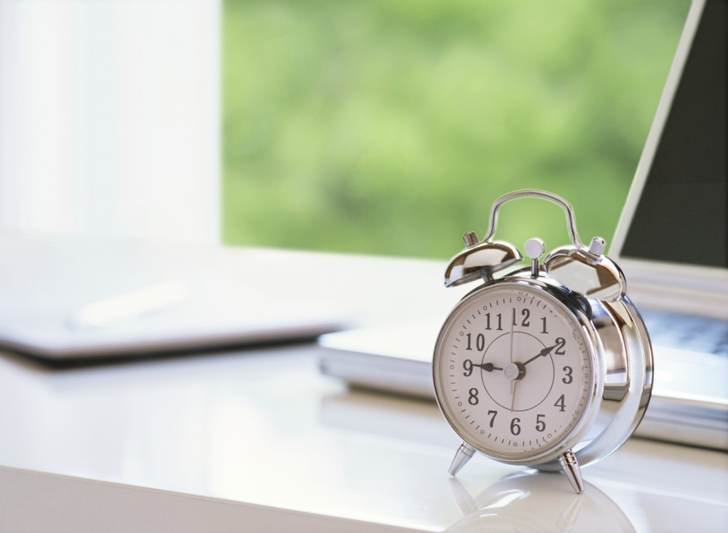 alarm clock and computer