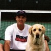 David and Ben tennis court