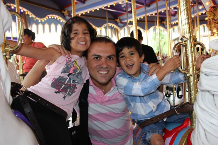 Saeed Abedini with children