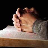 Praying Hands Man & Bible
