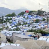 A tent city in Haiti.