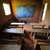 african elementary school room