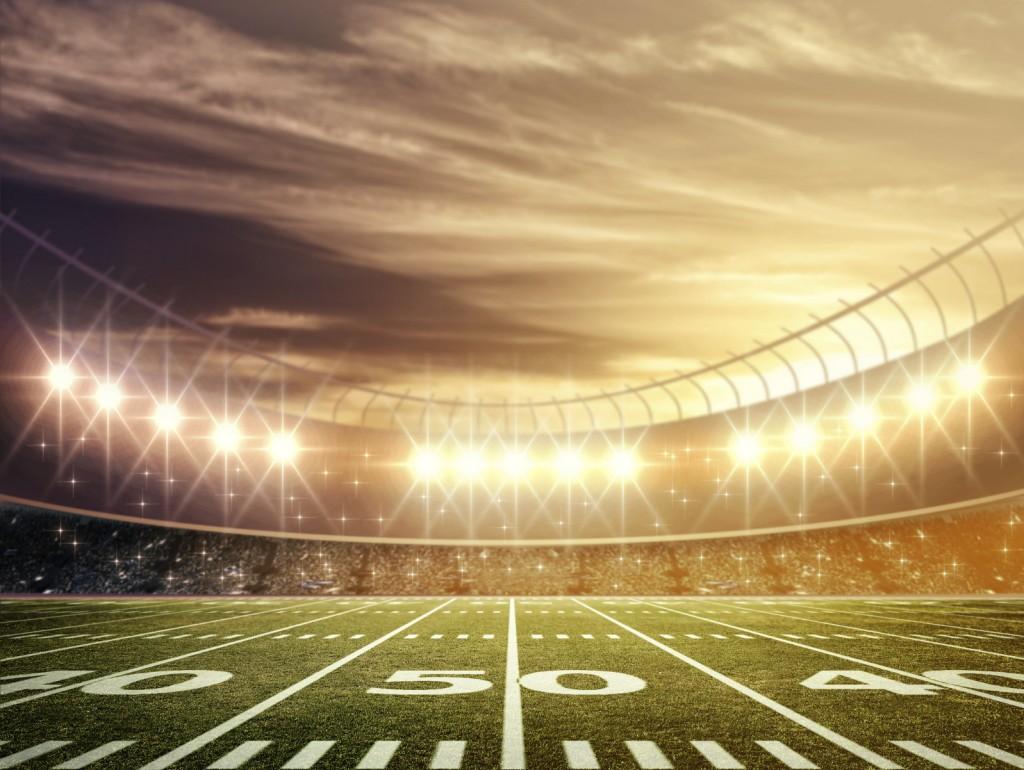 light of football stadium