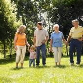 Family in park.