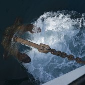 Anchor hitting the water