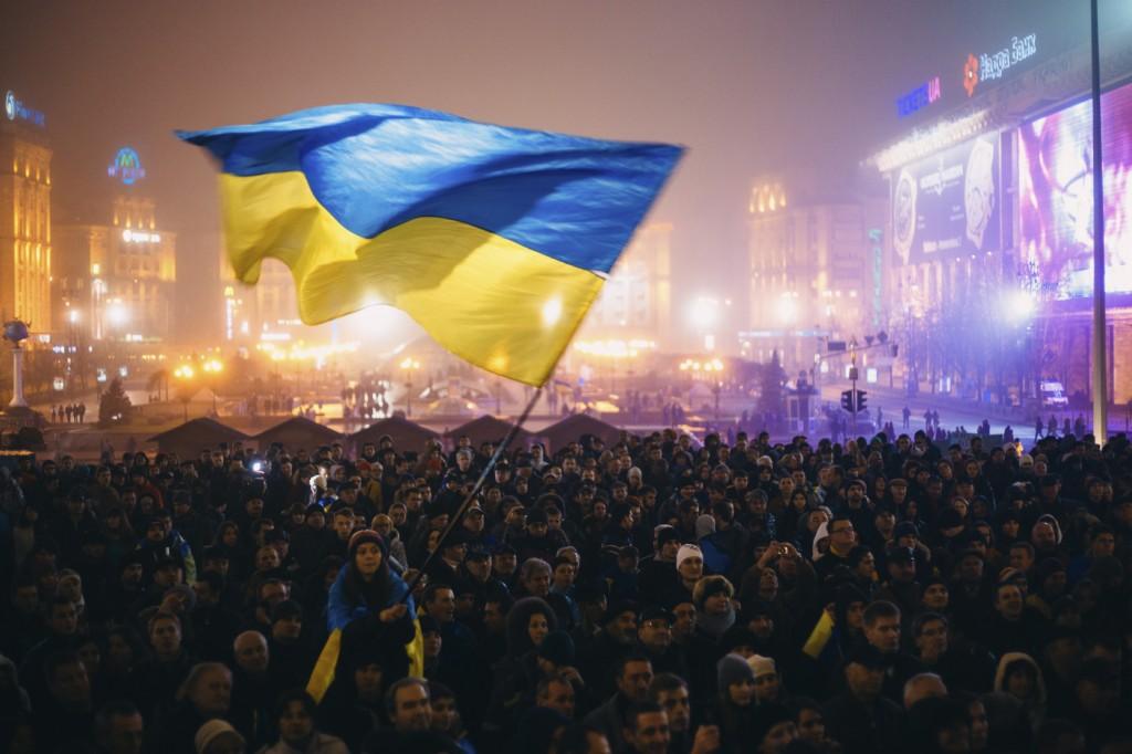 Meeting on the Maidan Nezalezhnosti in Kiev