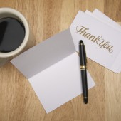 Thank You Note & Coffee
