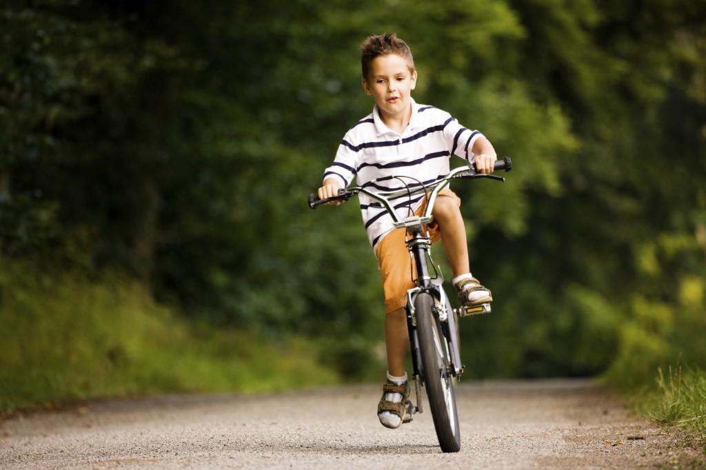 Kid riding a bike