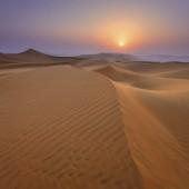 Sunset in the Rub Al Khali Desert