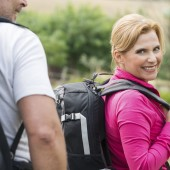 Woman Hiking With Husband
