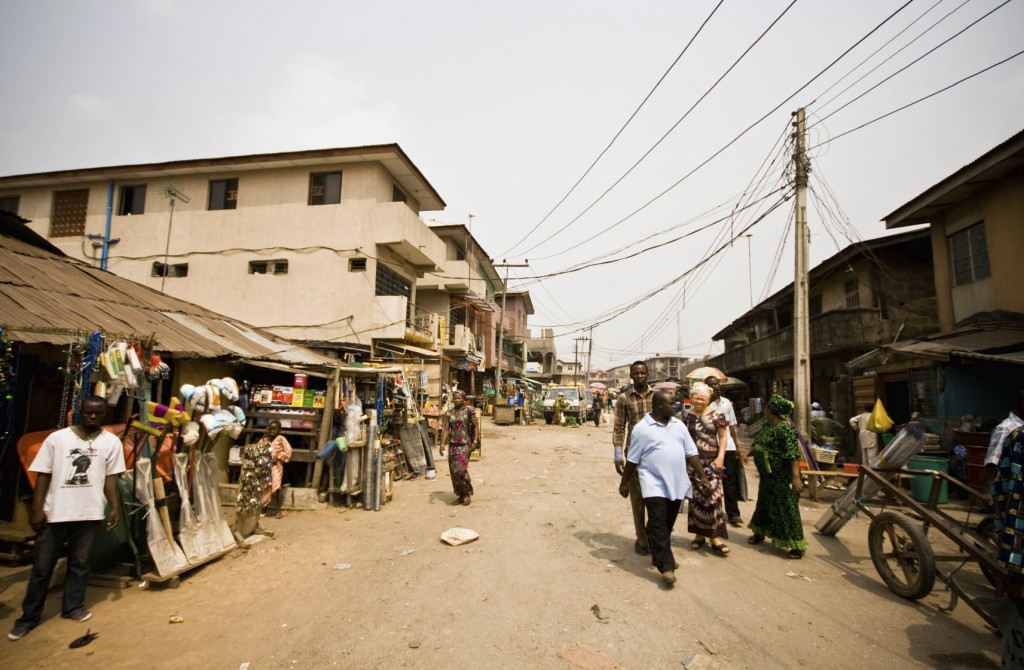Street scene near the market in Lagos