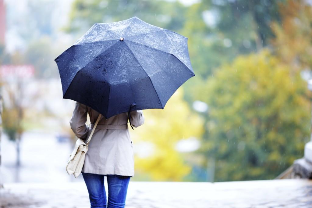 girl with an umbrella -