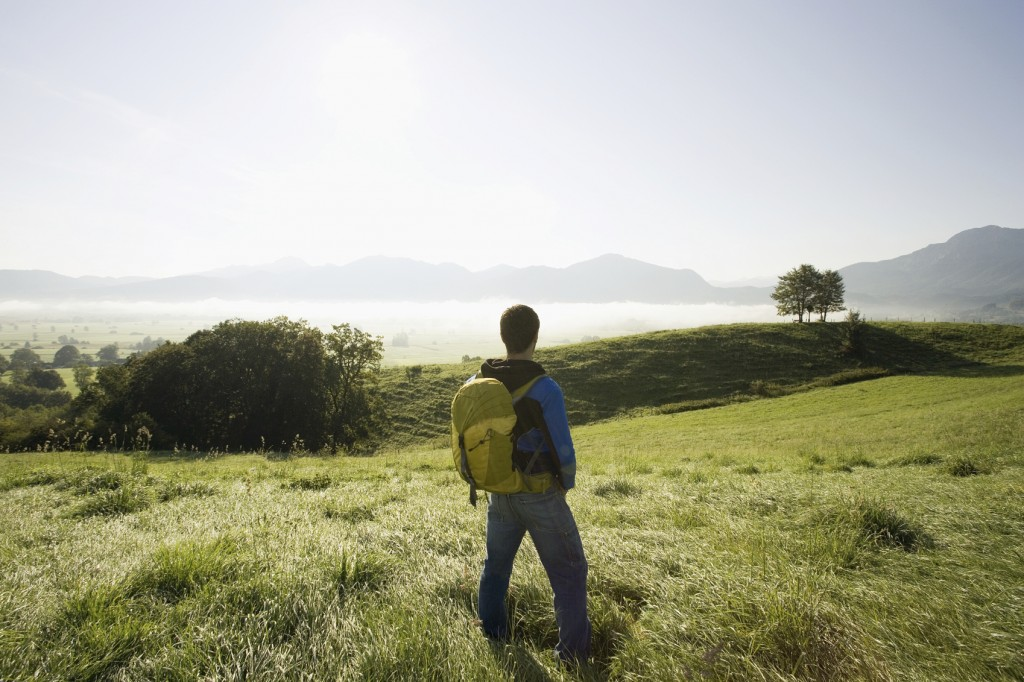 A man enjoying the view.