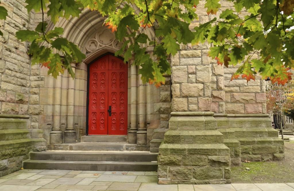 Big Red Church Doors