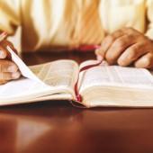 Man or Pastor studying teaching the Bible