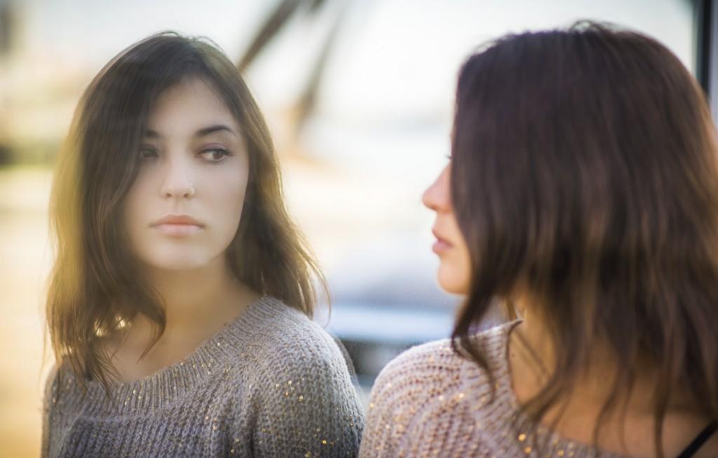 Portrait of a beautiful brunette.