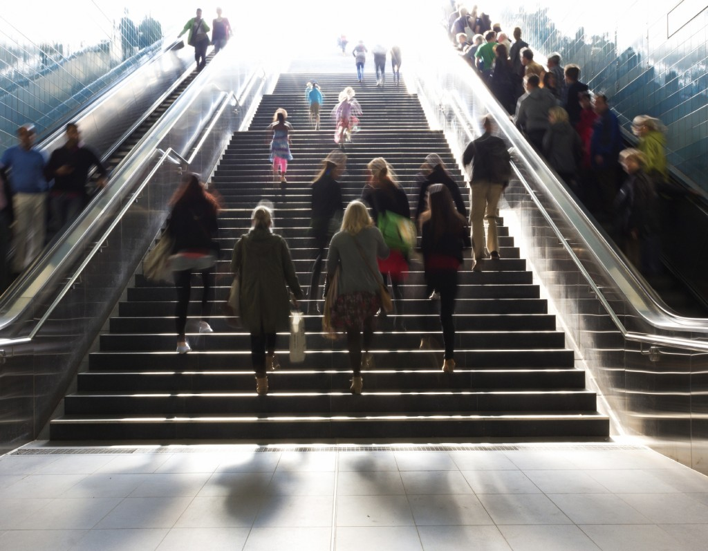 Stairs in the metro citiy