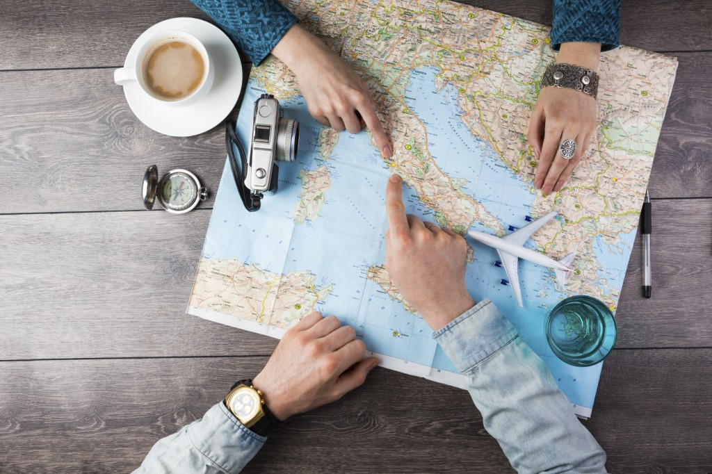 couple planning travel