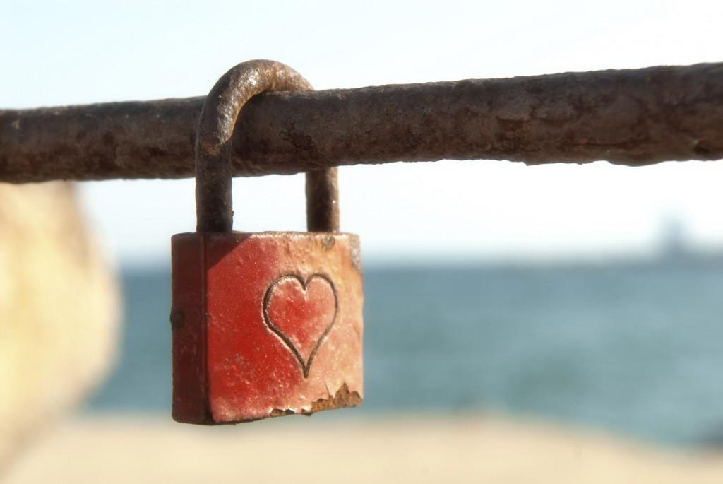 old romantic padlock