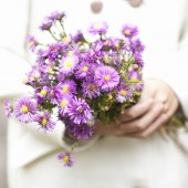 flowers in the hands