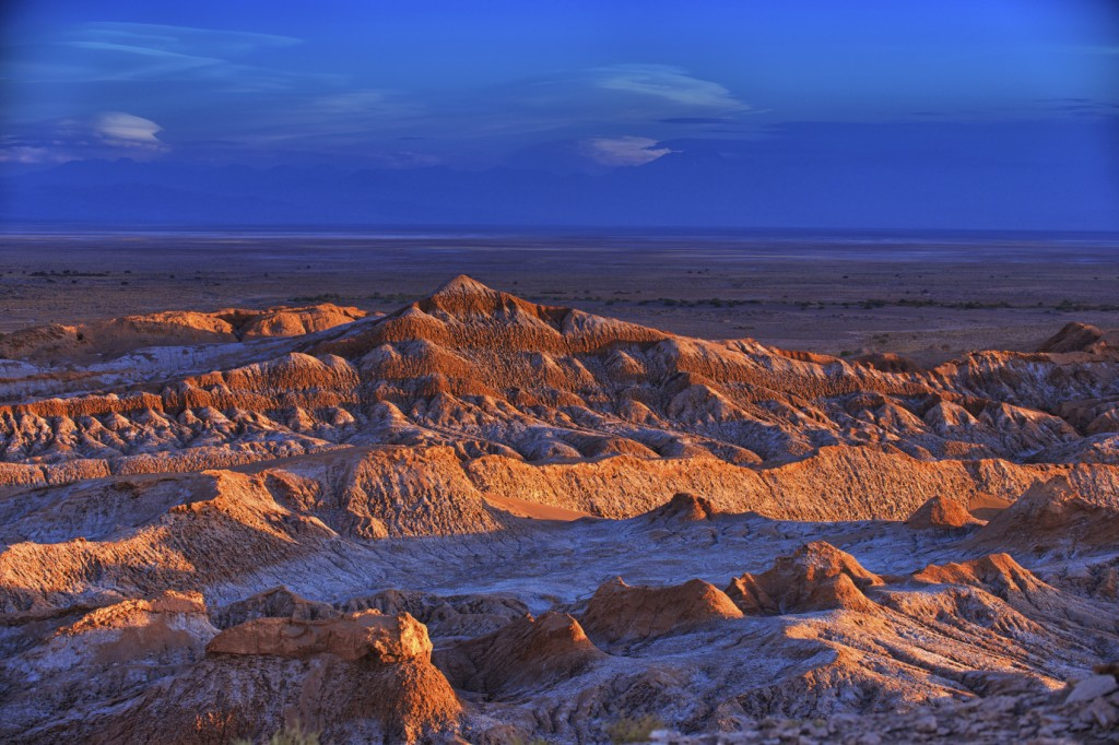 Barren landscape of the Moon valley, Atacama desert, Chile