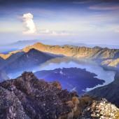Rinjani's summit at dawn