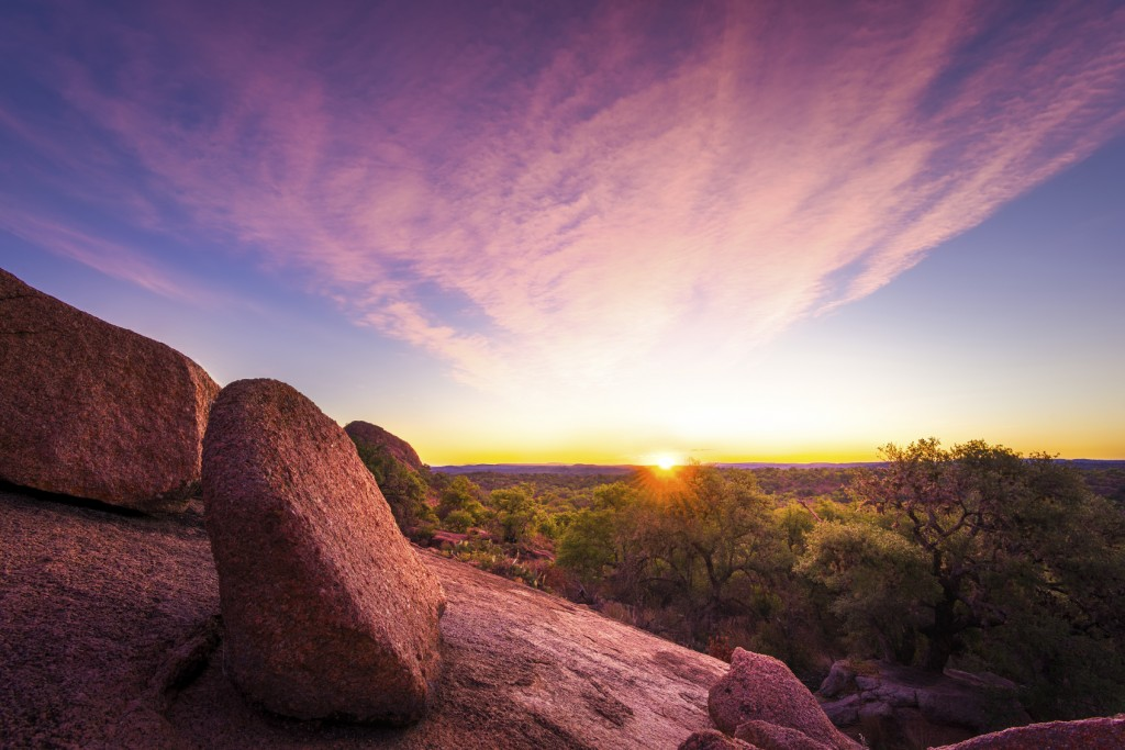 Sunrise Over Enchanted Rock State Park, TX