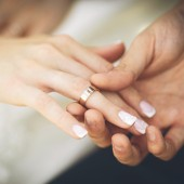Wedding rings. Wedding couple