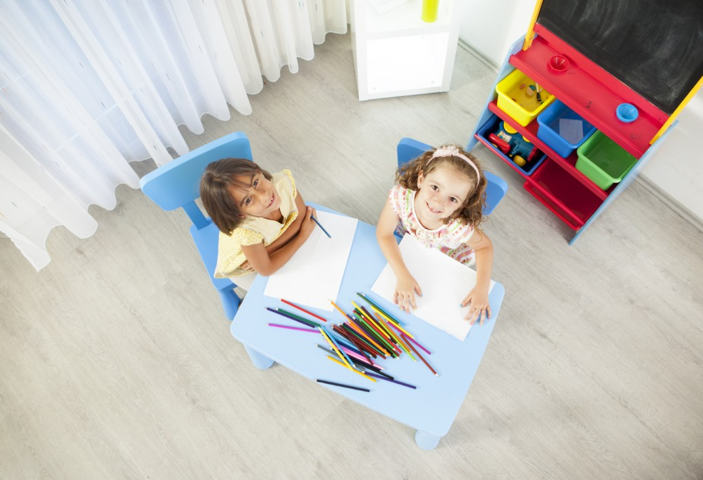 Children Coloring and Drawing