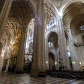 Magnificent Cathedral Museum in Segovia, Spain