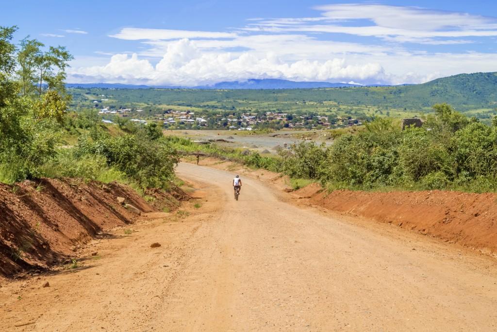 Road landscape in Tanzania