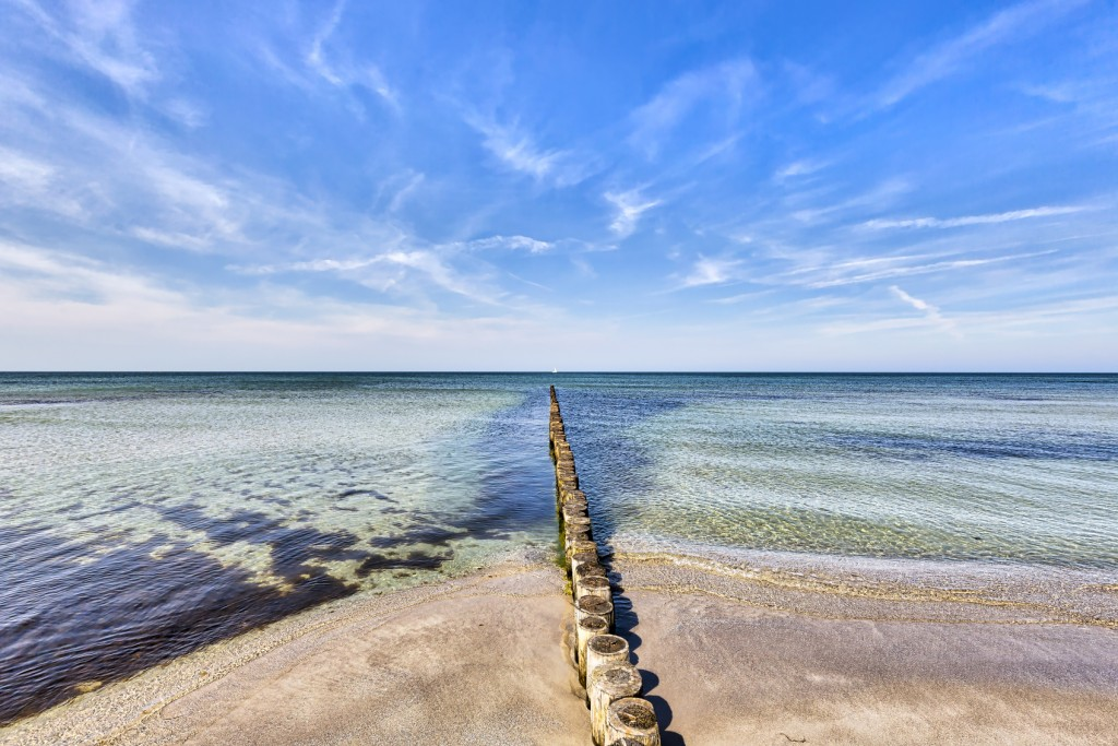 typical ocean landscape at Hiddensee island