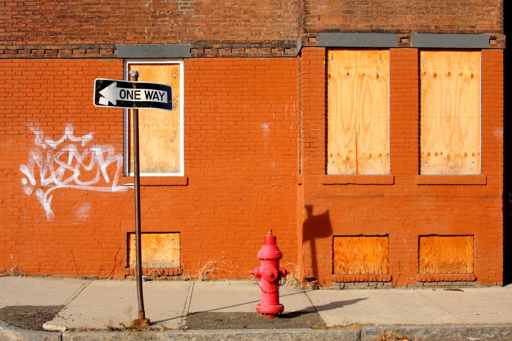 Poor neighborhood in Holyoke, Massachusetts