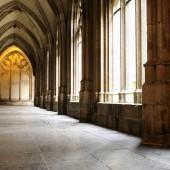 Medieval monastery corridor in Utrecht