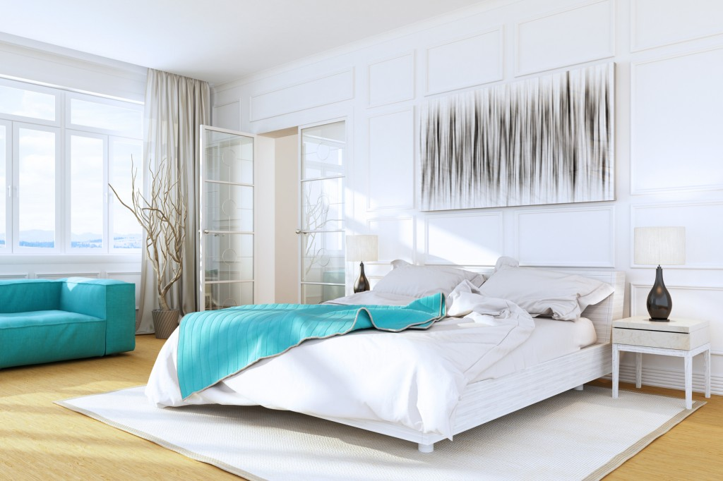 White Luxury Bedroom Interior
