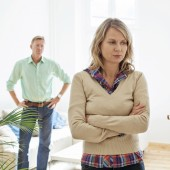 Mature couple having relationship difficulties