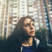 Portrait of a sad woman.