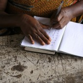 African Lady Writing